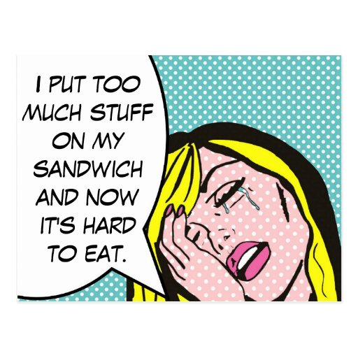 First World Problems Comic Book Postcard