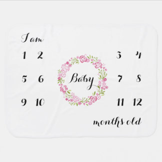 First year monthly backdrop blanket - Customize