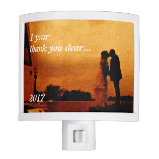 First year wedding anniversary keepsake. night lite