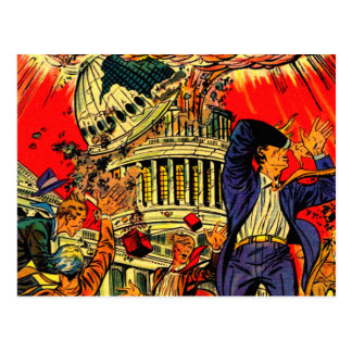 Fiscal Cliff Political Apocalypse Postcard