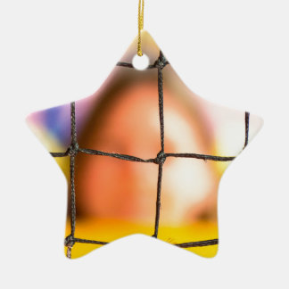 Fischer net with woman in the background ceramic ornament