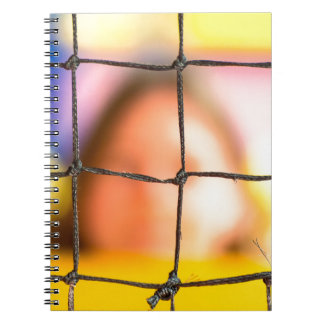 Fischer net with woman in the background spiral notebook