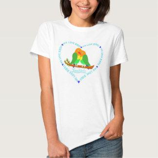 Fischer´s Lovebirds Heart Tee Shirt