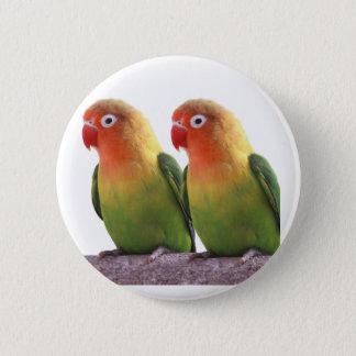 Fischer's Lovebird 2 Inch Round Button