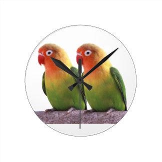 Fischer's Lovebird Round Clock