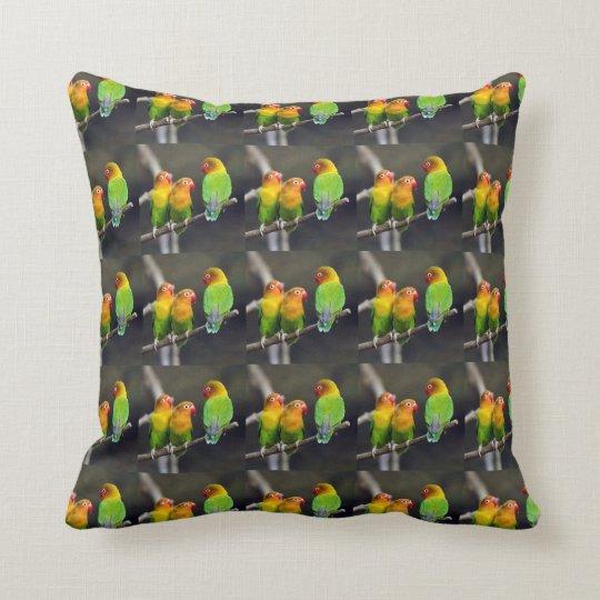 Fischer's Lovebird Throw Pillow