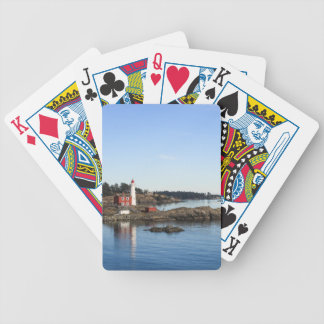 Fisgard lighthouse bicycle playing cards