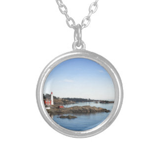 Fisgard lighthouse silver plated necklace