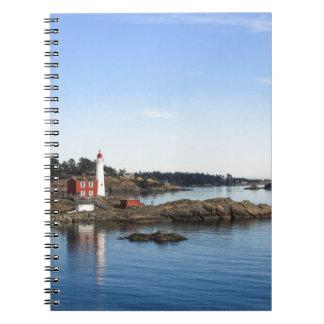Fisgard lighthouse spiral notebook