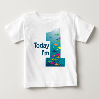 Fish 1st Birthday Baby T-Shirt