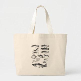 Fish 25 large tote bag
