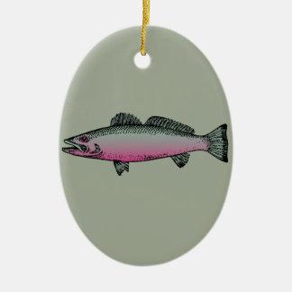 Fish 2 ceramic ornament