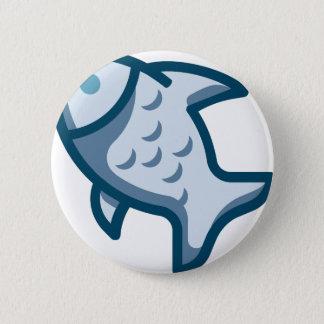 Fish 2 Inch Round Button