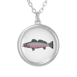 Fish 2 silver plated necklace