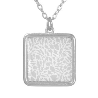 Fish a background2 silver plated necklace