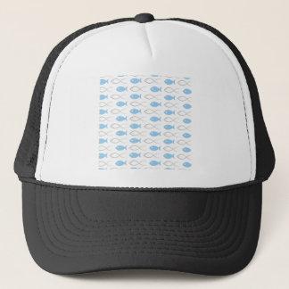 Fish a background3 trucker hat