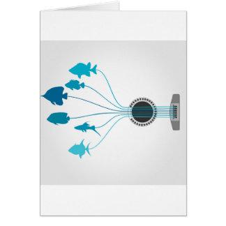 Fish a guitar card