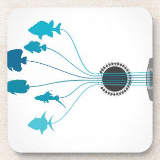 Fish a guitar coasters
