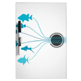Fish a guitar dry erase board