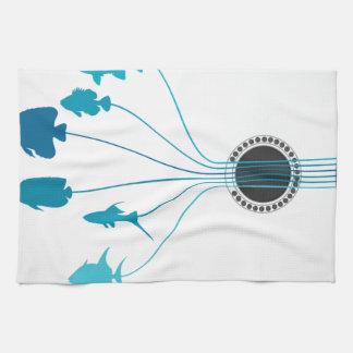 Fish a guitar kitchen towels