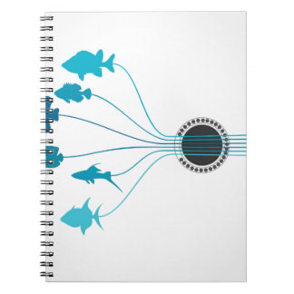 Fish a guitar notebooks