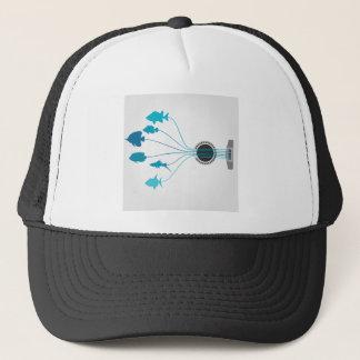 Fish a guitar trucker hat