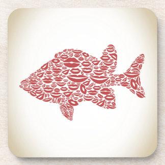 Fish a lip coaster