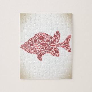 Fish a lip jigsaw puzzle