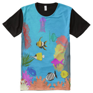 Fish All-Over-Print T-Shirt
