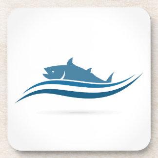Fish an icon2 coasters