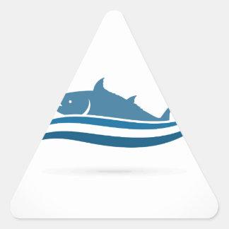 Fish an icon2 triangle sticker