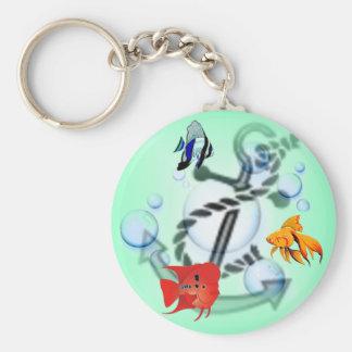 Fish & Anchor Keychain