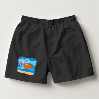 Fish and Bait in Love Boxers