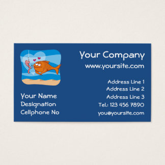 Fish and Bait in Love Business Card