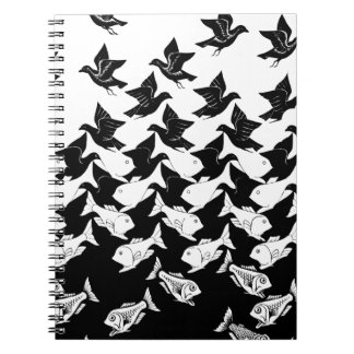 fish and birds notebook