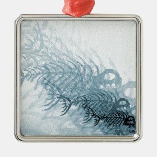Fish And Bones Metal Ornament