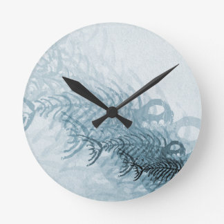 Fish And Bones Round Clock