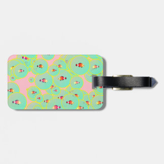 Fish and bubbles luggage tag