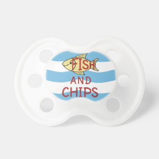 Fish and Chips 2 Baby Pacifiers
