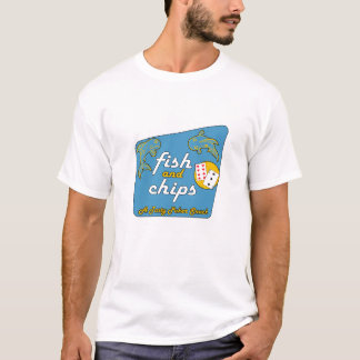 """Fish and Chips """"A Tasty Poker Snack"""" T-Shirt"""