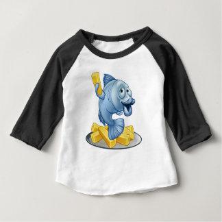 Fish and Chips Cartoon Baby T-Shirt