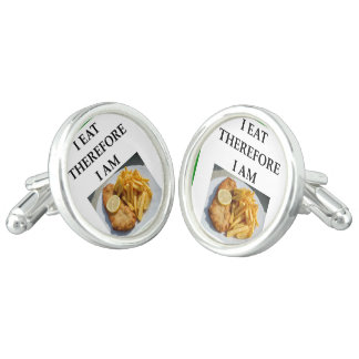 fish and chips cuff links