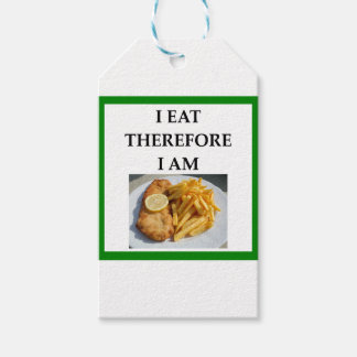 fish and chips pack of gift tags