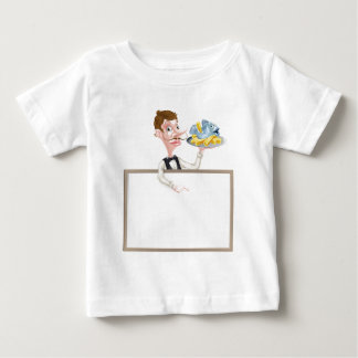 Fish and Chips Restaurant Menu Signboard Baby T-Shirt