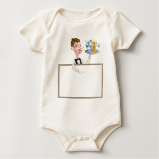 Fish and Chips Restaurant Signboard Baby Bodysuit