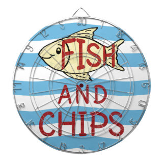Fish and Chips Square Design Dartboard