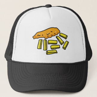 fish-and-chips trucker hat