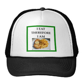 fish and chips trucker hat