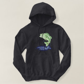 Fish and Fisherman Embroidered Hoodie