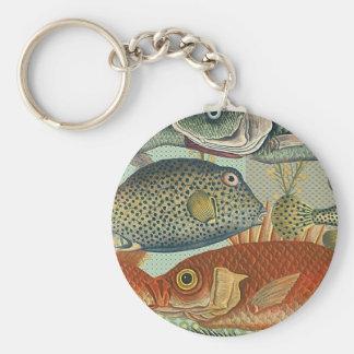 Fish and Seaweed Keychain